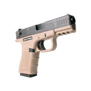 ISSC Licensed M-22 Full Metal Airsoft GBB Gas Blowback Pistol by WE (Color: Desert / Green Gas) - Complete upper slide