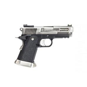 WE Tech Hi-Capa Force 3.8 Brontosaurus GBB Pistol (Silver)