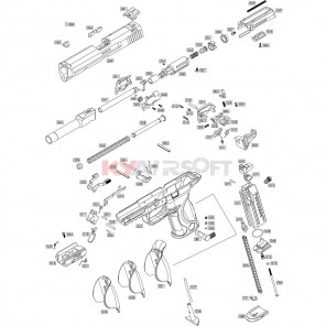 WE Big Bird series Semi Auto (Complete Nozzle housing assembly)