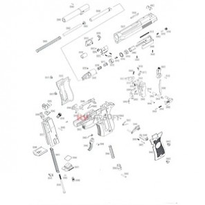 WE M84 Series  (Complete Nozzle housing assembly)