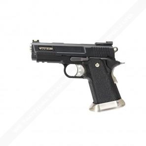 WE Tech Hi-Capa Force 3.8 Brontosaurus GBB Pistol (Black)