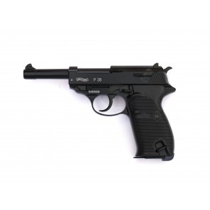 WE P38 Black Classic Pistol (Full marking, 100 YEAR White)