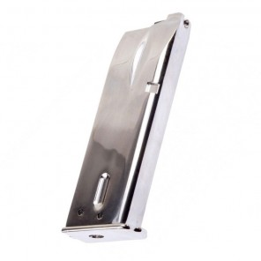WE Browning Hi-Power Series Magazine - Airsoft Gas Blowback (Color: Silver)