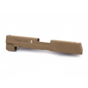 KY custom F226/MK25 slide with CNC custom marking (#F 226 #S-01) FDE