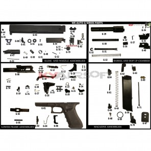 G #G-01 AUTO GBBP FRAME / LOWER RECEIVER