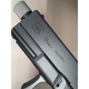 WE G19 Threaded Barrel with thread cover (Pistols adapter included)