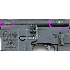 M4 #22 Upper Receiver GBBR BK + Custom Laser marking
