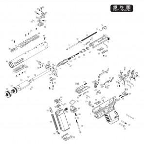 WE G SERIES GALAXY lower rail screw set (x3) #39