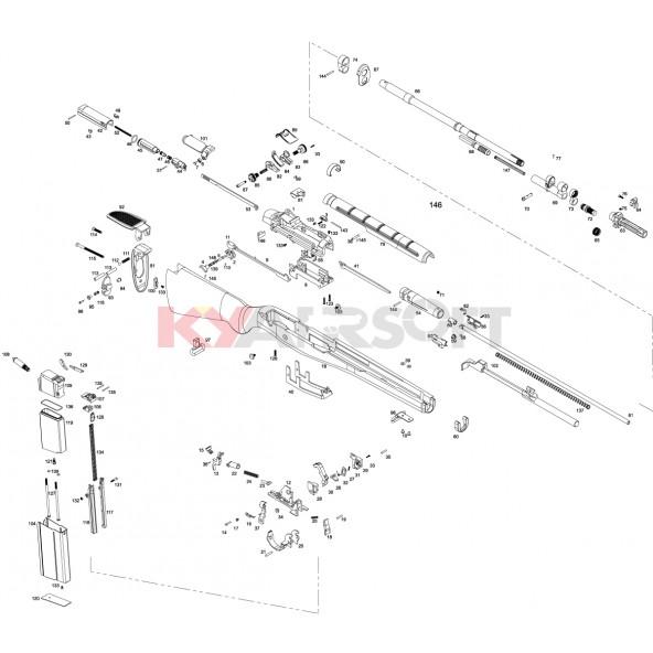 m14 series we rifles (gbbr) parts airsoft m4 parts diagram m14 parts diagram #26