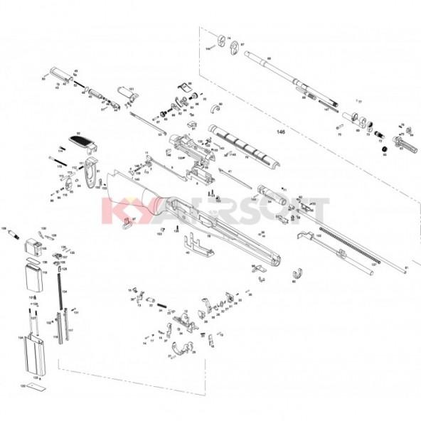 m14 repair parts set m14 series we rifles (gbbr) parts AR Parts Diagram we m14 gbbr complete trigger group