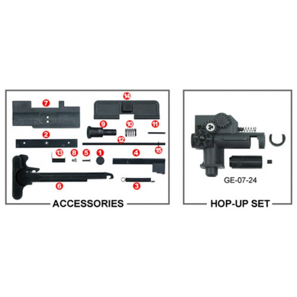 GD M4 & M16 Series - GUARDER - Upgrade Parts (WE/TM/KJ
